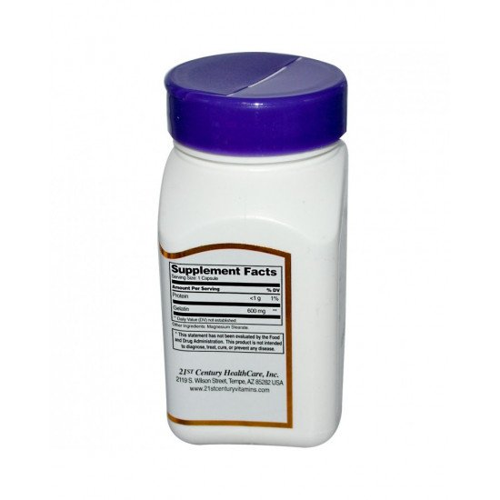Желатин 600 мг 100 капсули | 21st Century БМ