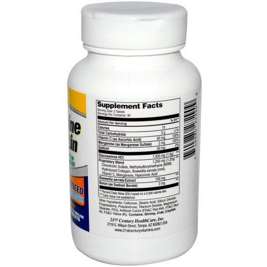 Глюкозамин Хондроитин Комплекс 80 таблетки | 21st Century