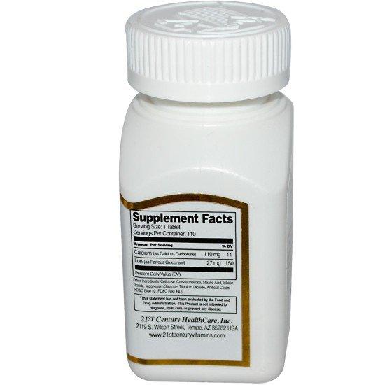Желязо 27 мг 110 таблетки | 21st Century БМ