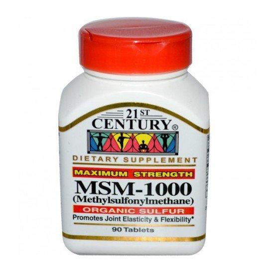 МСМ 1000 мг 90 таблетки LIGNISUL™ | 21st Century