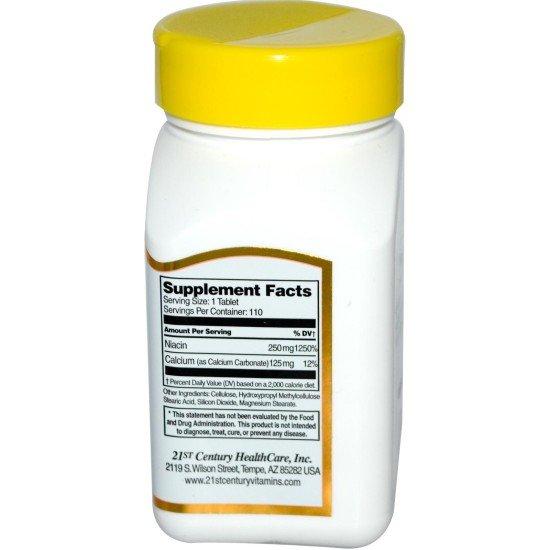 Ниацин (Витамин B-3) 250 мг 110 таблетки   21st Century