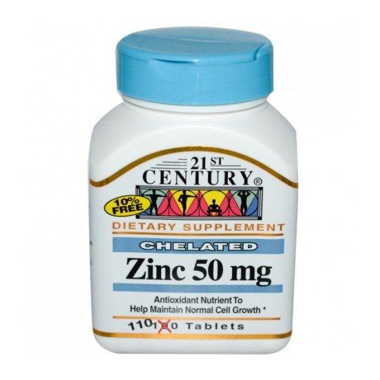 Цинк 50 мг 110 таблетки | 21st Century