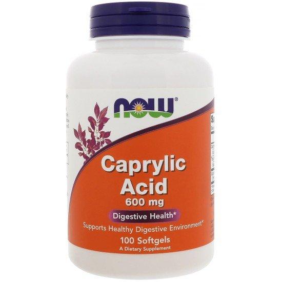 Каприлова киселина 600 мг 100 дражета | Now Foods