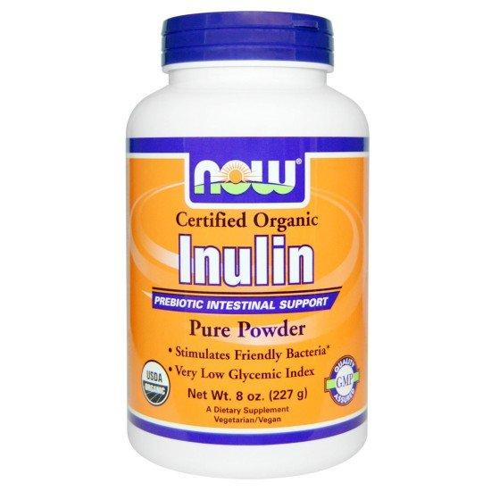 Инулин Пребиотик 100% Органичен 227 гр   Now Foods БМ