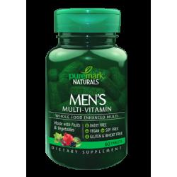 Натурални Мултивитамини за Мъже 60 таблетки Puremark Naturals