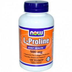 L-Proline 500 мг 120 капсули   Now Foods